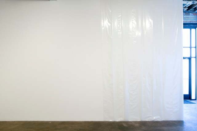 At All, 2007. Plastic sheeting.