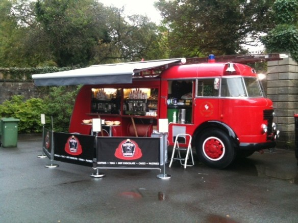 Fire engine coffee truck