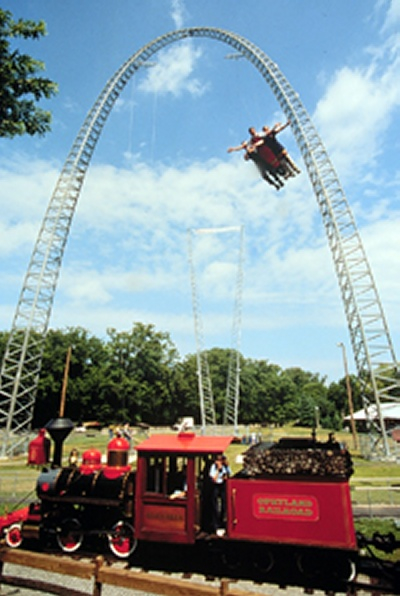 photo of 173 ft. sky coaster taken while still on location at opryland theme park in nashville tennessee