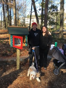 Dearborn Park's Little Free Library installation December 10, 2016