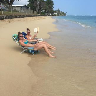 Champs+beach+books=Great Sunday