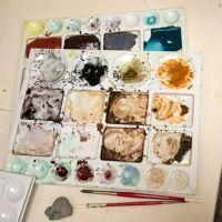 Artist Jane Ryder at her studio.