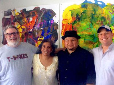 LtoR: MAS artist, Joe; Artspeak Radio host Maria, Frank, Jonathan