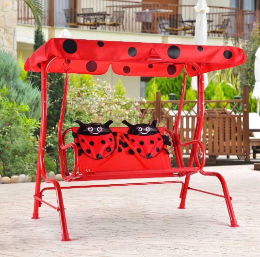 clearance kids canopy patio swing chair