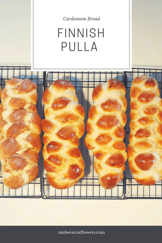 Finnish Pulla. Cardamom bread. Traditional Finnish recipe