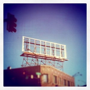 Empty billboard structure