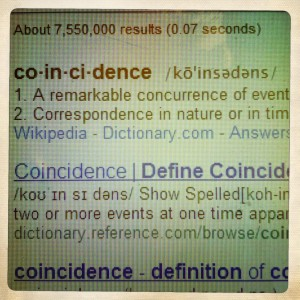 definition of coincidence