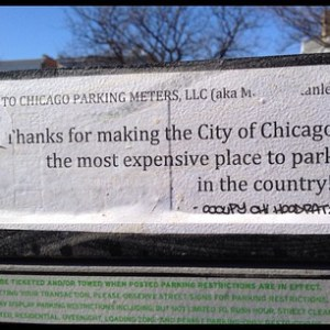 sign on a parking meter