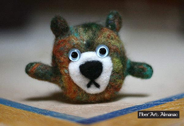 Julie Pietras' needle felted wooly critters