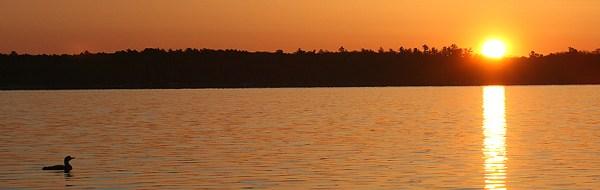 Sunset on Trout Lake, Northern Minnesota