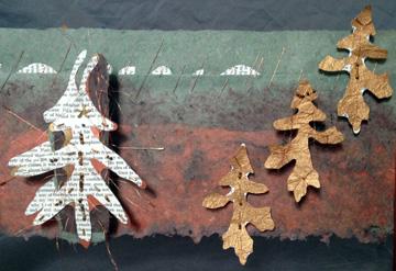 Dana Slowiak makes art with paper sculpture