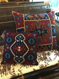 Woven pillows in wool.