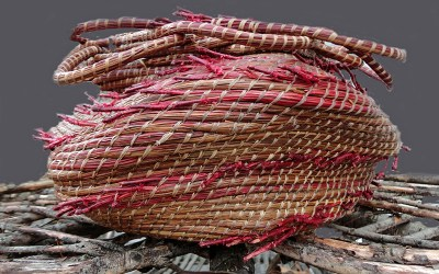 Roberta Condon's pine needle coiling