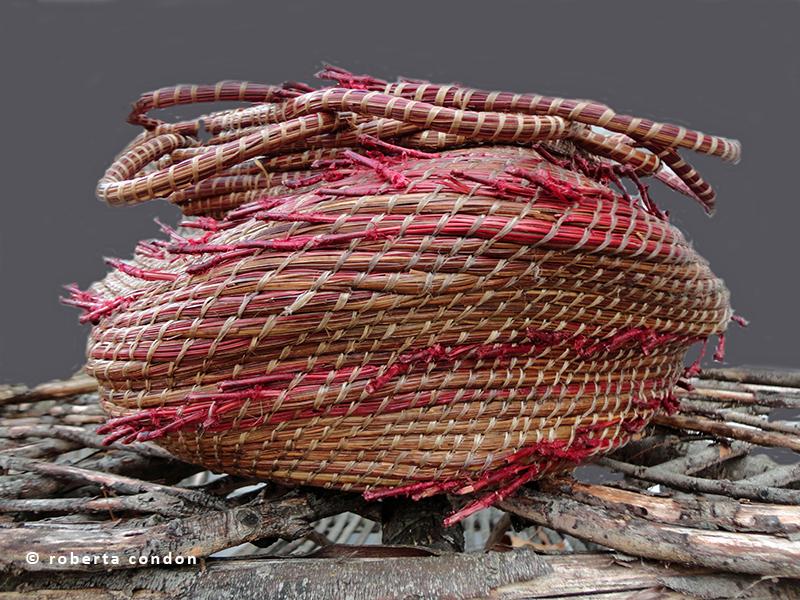 Roberta Condon's pine needle coiling