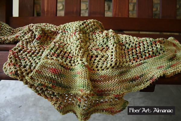 Open work summer shawl