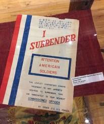 'I surrender'