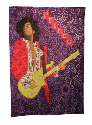 Commemorating His Purple Reign exhibit at WI Quilt Museum.