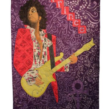 Commemorating His Purple Reign exhibit at WI Quilt Museum.