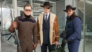 """Taron Egerton, Colin Firth and Pedro Pascal star in """"Kingsman: The Golden Circle,"""" a 2017 action-comedy from director Matthew Vaughn and Twentieth Century Fox."""