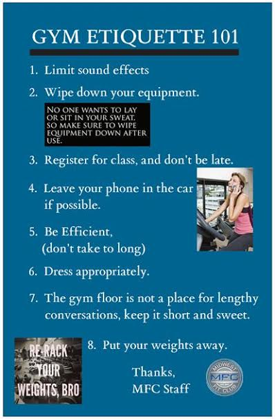 Gym Etiquette 101 Midwest Fit Club Premier Fitness Center Dedicated To Personal Training