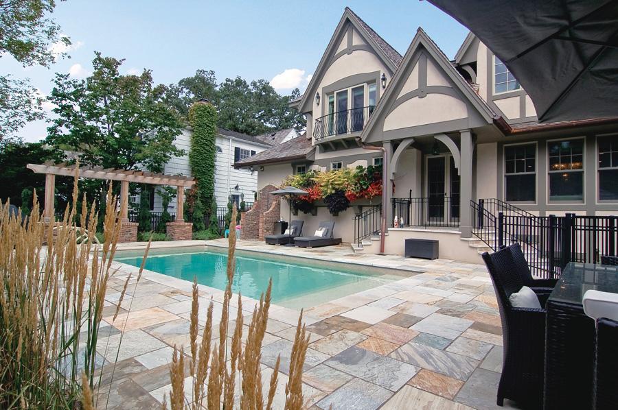The Leber's backyard