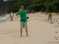 Teaching the banca guides how to play REAL football.
