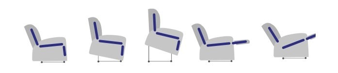 1 Motor tilt-in-space rise and recline chair gloucestershire