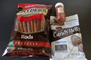 Autumn Candy Coated Pretzel Ingredients