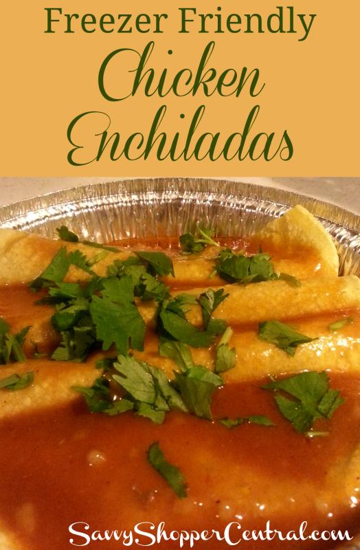 Freezer Friendly Chicken Enchiladas