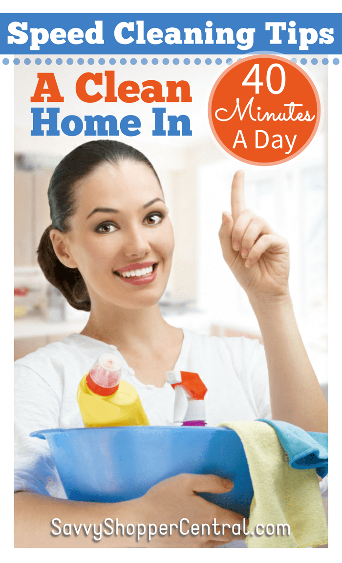 Speed Cleaning Tips A Clean Home In 40 Minutes A Day