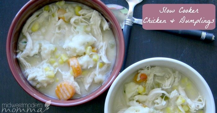Chicken and Dumplings in the crockpot