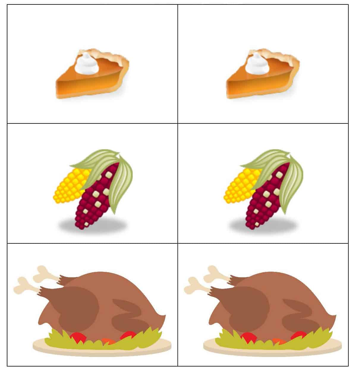 Free Thanksgiving Worksheets For Preschool Math