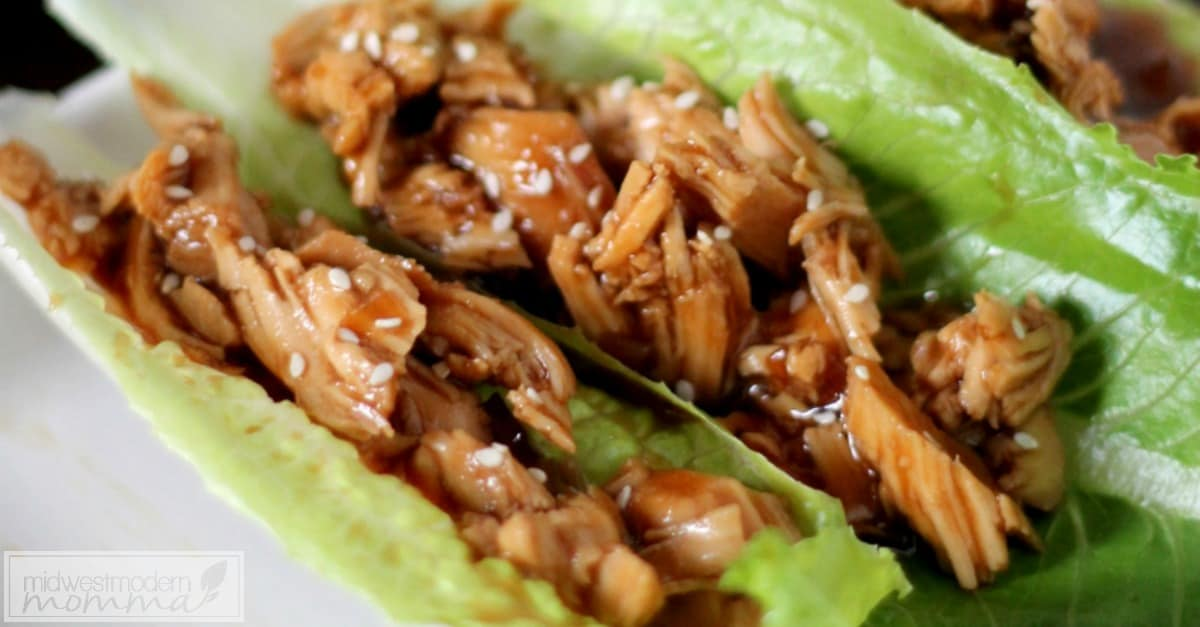 Paleo Slow Cooker Chicken Teriyaki Wraps
