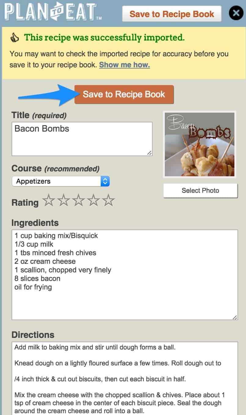 Saving Recipes with Plan to Eat