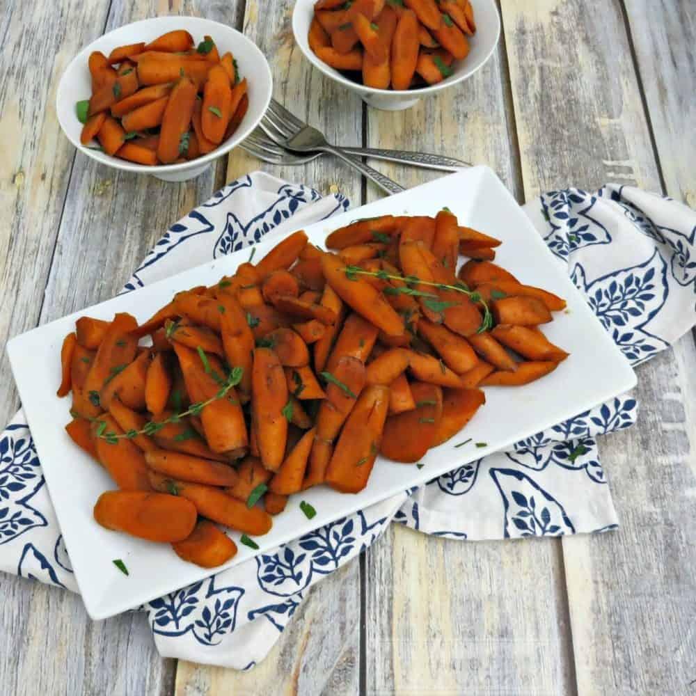 Balsamic & Maple Glazed Carrots