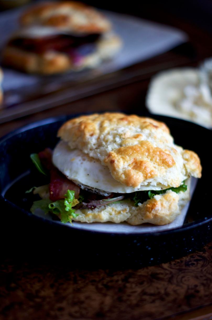 Blue Cheese Biscuit Breakfast Sammies | via Midwest Nice Blog