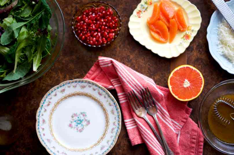 Winter Green Salad with Pomegranate & Orange | via Midwest Nice Blog