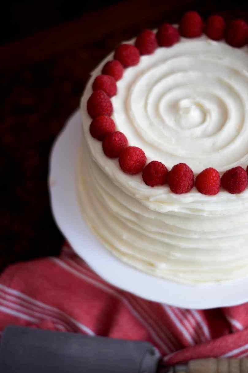 Lemon Raspberry Layer Cake | via Midwest Nice Blog
