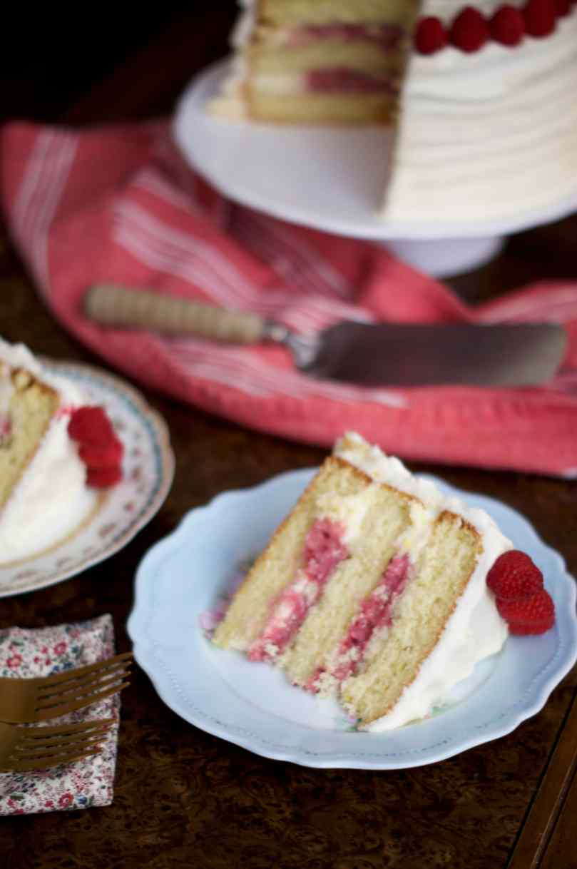 Lemon Raspberry Layer Cake | via Midwest Nice Blog