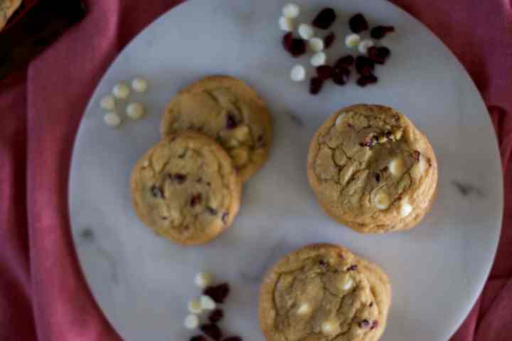 Cranberry, White Chocolate & Orange Drop Cookies