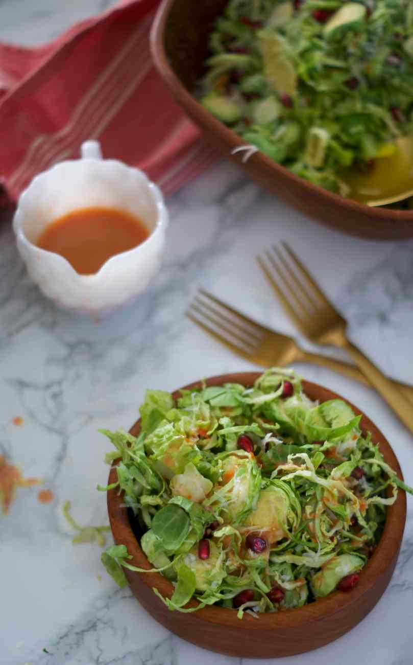 Shaved Brussels Sprouts Salad with Blood Orange Vinaigrette