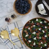 Blueberry Bacon Salad with Basil Peach Vinaigrette (& networking)