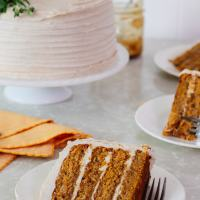 Butternut Squash Cake with Brandy Butterscotch (& growth)