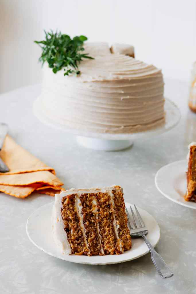 Butternut Squash Cake with Brandy Butterscotch