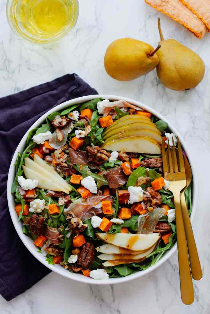Roasted Sweet Potato Salad with Apple Cider Vinaigrette