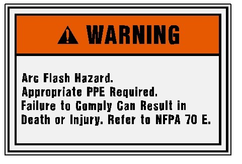 Warning - Arc Flash Hazard... Image
