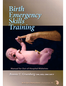 Birth Emergency Skills Training Manual
