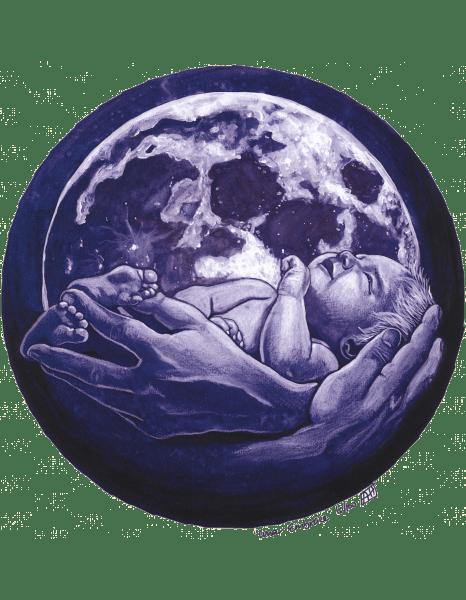 Luna Embrace Print