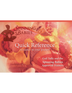 Spinning Babies Quick Reference