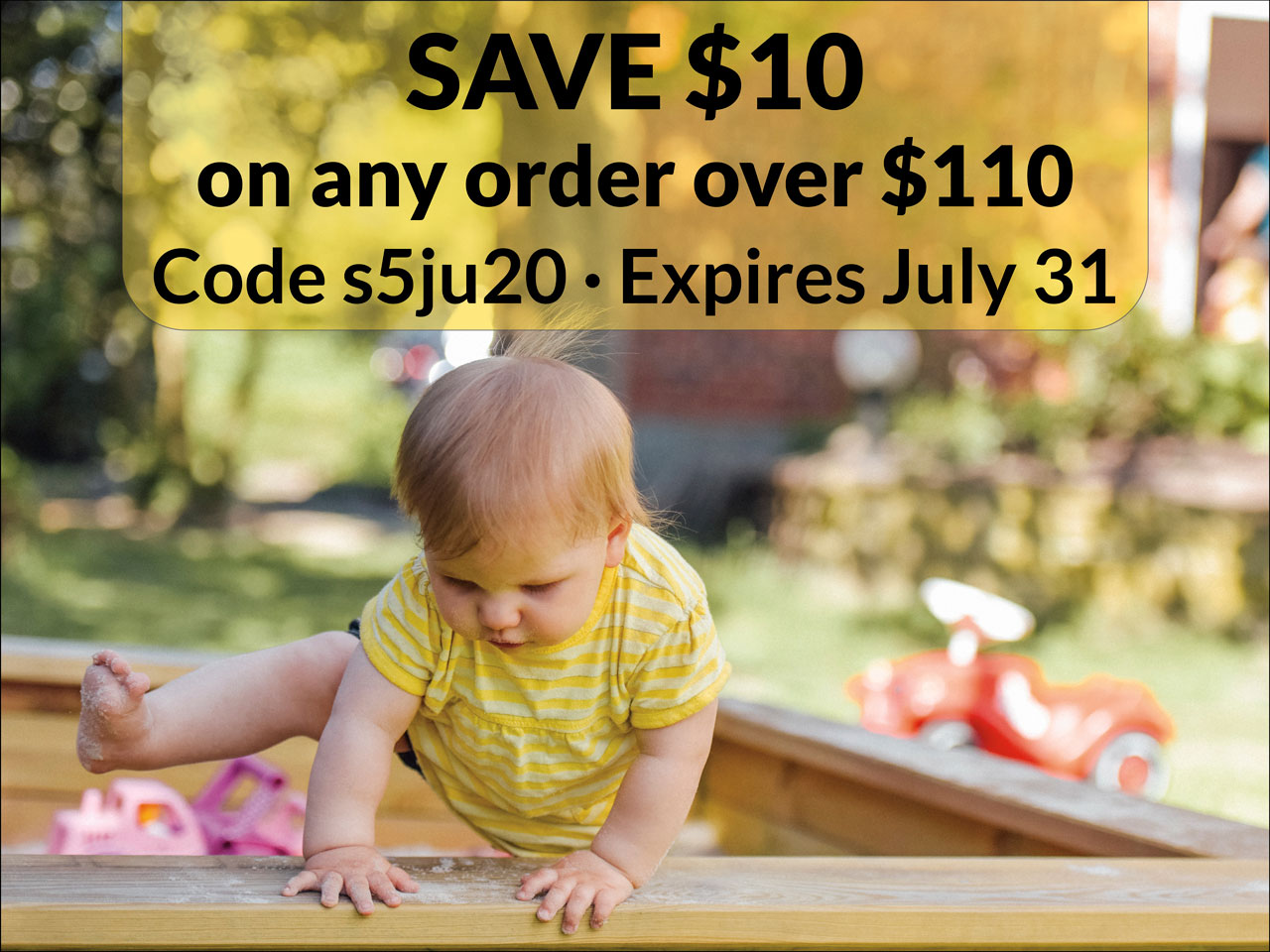 Save $10 on any order over $110